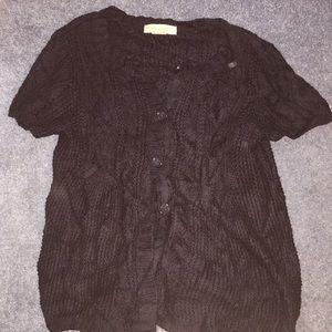 Michael Kors navy knitted cardigan